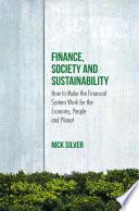 Finance  Society and Sustainability