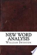 New Word Analysis
