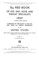 The Red Book of Eye, Ear, Nose and Throat Specialists