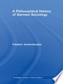 A Philosophical History Of German Sociology Book PDF