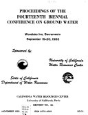 Proceedings Of The Fourteenth Biennial Conference On Ground Water Book PDF