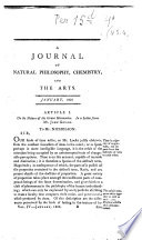 Journal of Natural Philosophy  Chemistry and the Arts