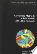 Combining Methods In Educational And Social Research Book PDF