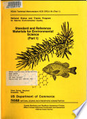 Standard and Reference Materials for Environmental Science