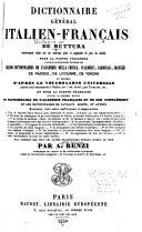 Dictionnaire générale italien-français de Buttura, entièrement refait ...