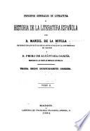 Princípios generales de literatura é Historia de la literatura española