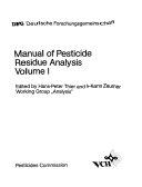 Manual of Pesticide Residue Analysis