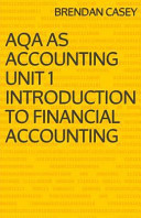 Aqa As Accounting Unit 1 - Introduction to Financial Accounting