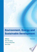 Environment  Energy and Sustainable Development Book