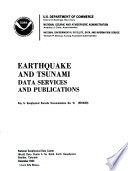 Earthquake and Tsunami Data Services and Publications