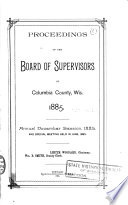 Proceedings Of The Board Of Supervisors Of Columbia County