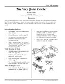 Eric Carle Literature Activities--The Very Quiet Cricket