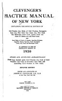 Clevenger's Practice Manual of New York