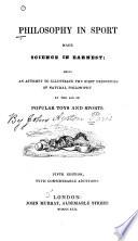 Philosophy in Sport Made Science in Earnest Book
