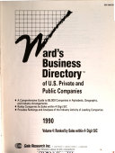 Ward s Business Directory of U  S  Private and Public Companies Vol  4