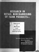 Research in Retail Merchandising of Farm Products