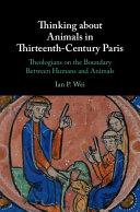 Thinking about Animals in Thirteenth Century Paris