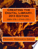 Creating the Digital Library  2013 Edition Book