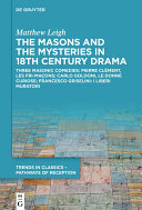 Pdf The Masons and the Mysteries in 18th Century Drama Telecharger