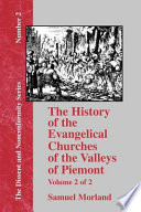 The History of the Evangelical Churches of the Valleys of Piemont