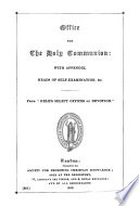 Office for the holy communion. From Hele's Select offices of private devotion. With appendix