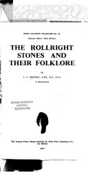 The Rollright Stones and Their Folklore