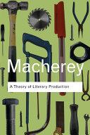 A Theory of Literary Production Pdf/ePub eBook