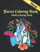 Horses Adults Coloring Book