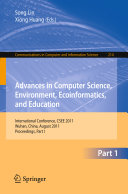Advances in Computer Science  Environment  Ecoinformatics  and Education