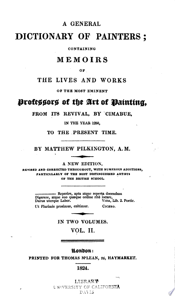 A general dictionary of painters