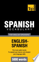 Spanish vocabulary for English speakers   5000 words Book
