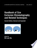 Handbook Of Size Exclusion Chromatography And Related Techniques