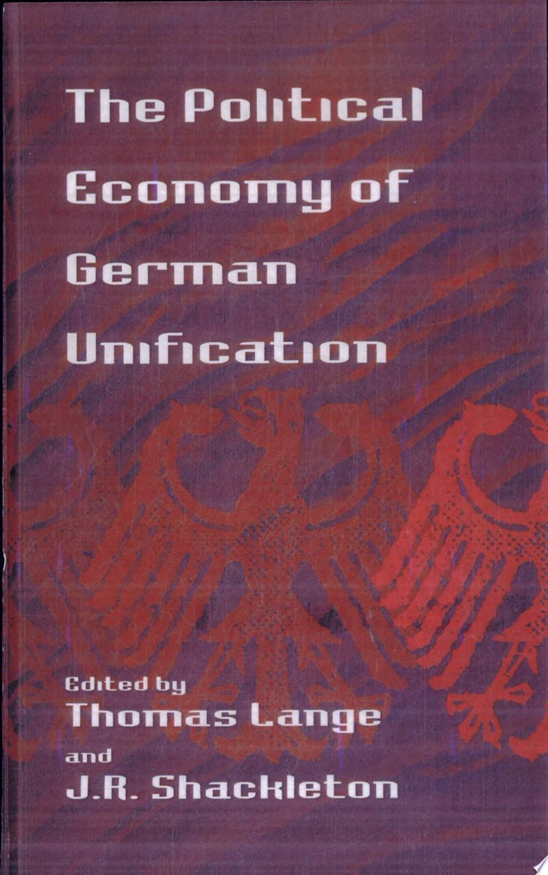 The Political Economy of German Unification banner backdrop