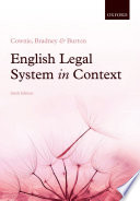 Cover of English Legal System in Context 6e