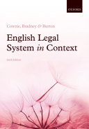 English Legal System in Context 6e