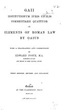 Elements of Roman law