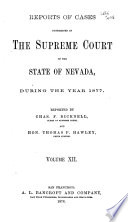 Reports Of Decisions Of The Supreme Court Of The State Of Nevada Book PDF