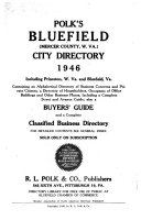 Polk s Bluefield  West Virginia  city directory     including Princeton