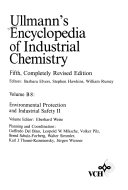 Ullmann s Encyclopedia of Industrial Chemistry  Environmental Protection and Industrial Safety II