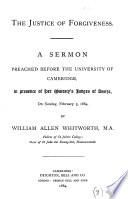 The justice of forgiveness  A sermon