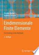 Eindimensionale Finite Elemente  : Ein Einstieg in die Methode