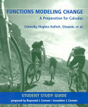 Functions Modeling Change  Student Study Guide Book
