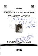 With Ananda K  Coomaraswamy at a Study table