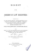 The American Law Register Pdf/ePub eBook