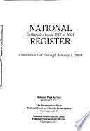 National Register of Historic Places, 1966-1994