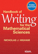Handbook of Writing for the Mathematical Sciences  Third Edition