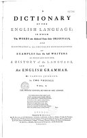 A Dictionnary of the English Language ebook