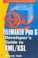 FileMaker Pro 6 Developer s Guide to XML XSL