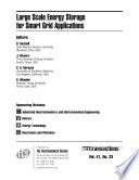 Large Scale Energy Storage for Smart Grid Applications
