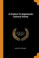 A Preface to Eighteenth Century Poetry